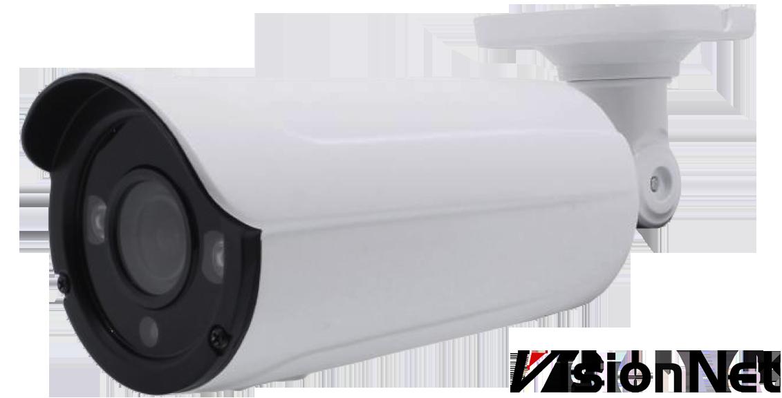 מצלמה צינור חיצונית מתכת 4in 1 (AHD/TVI/CVI/CVBS), 4MP, Vari-Focal, 2.8-12mm, 4pcs Array, PAL, NIR